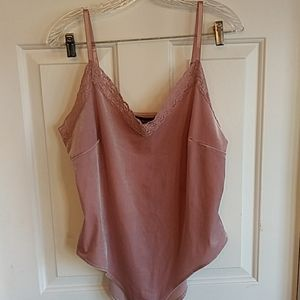 F21 Forever 21+ Dusty Pink Camisole Bodysuit 2X